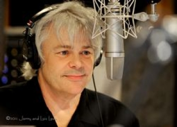 Seattle radio personality Bob Rivers at the mic